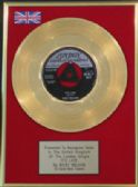 "RICKY NELSON - 7"" Gold Disc - IT'S LATE"